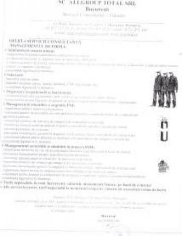 Administrare personal si salarizare / SSM / PSI de la Sc Allgroup Total Srl
