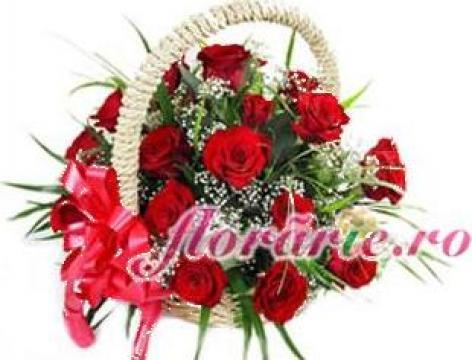 Cos trandafiri de la Florarie.ro