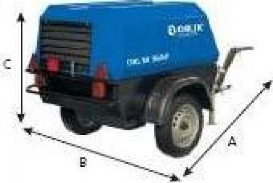 Compresor de aer mobil cu snec 4,5 mc/min