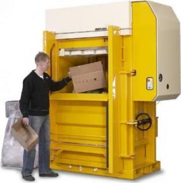 Presa de balotat deseuri carton, folie, PET HDX-50 de la Sc Schuster Recycling Technology Srl