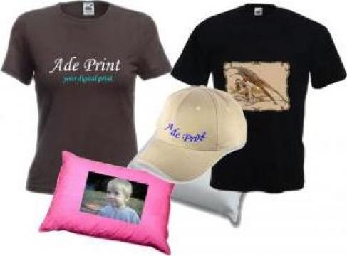 Personalizari tricouri si alte materiale textile de la Ade Print Srl