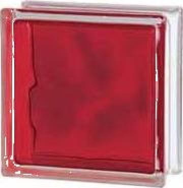 Caramida de sticla colorata prin injectare rosu de la Geo & Vlad Com Srl