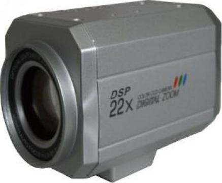 Camera video cu optica integrata si autofocalizare