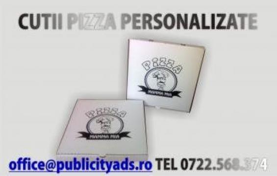 Cutii pentru pizza personalizate de la Publicity Srl