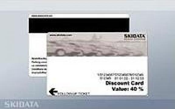 Cartela tichet banda magnetica de la Parking Experts Srl