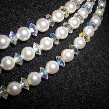 Colier mireasa cu perle si cristale Swarovski de la Brio Design