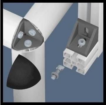 Elemente de fixare pentru profile de aluminiu de la Minitec Solutions
