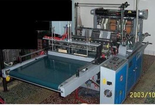 Automat de fabricat pungi cu sudare pe talpa