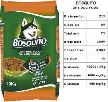 Hrana uscata pentru caini Bosquito