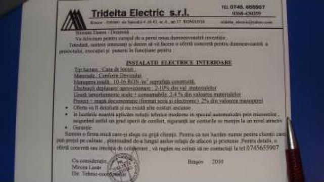 Instalatii electrice interioare de la Tridelta Electric Srl