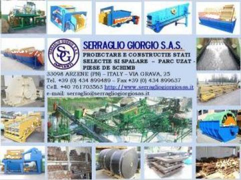 Statii sortare concasare piese uzura de la Serraglio Giorgio Sas