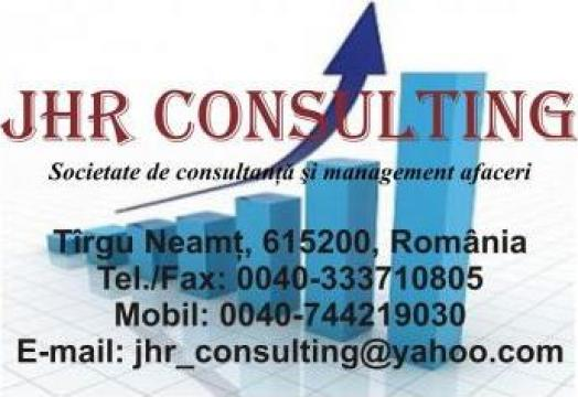 Servicii de consultanta si management afaceri de la Jhr Consulting Srl