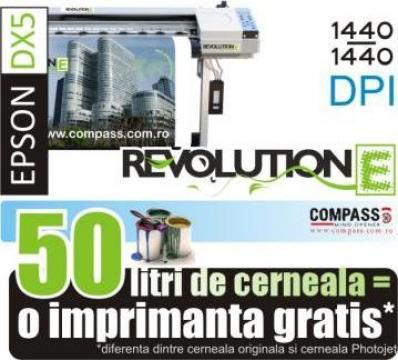 Imprimanta ecosolvent cu cap Epson DX5 Revolution E