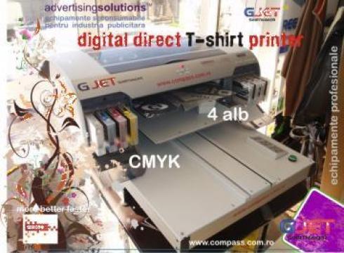 Imprimare directa pe textile-Kimoto G-Jet, imprimanta trico de la Compass Srl