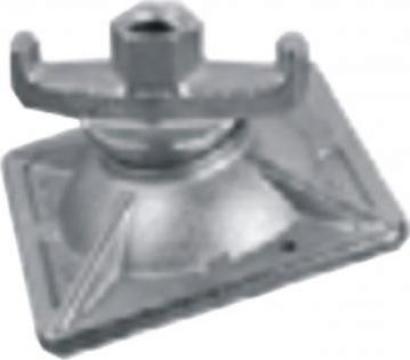 Piulita tirant, galvanizata termic cu blocare, filet 15 mm de la Blackbull Com Ro