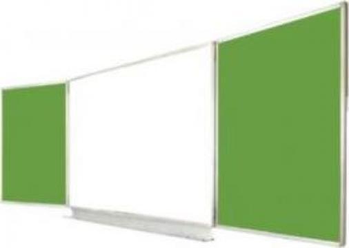 Tabla scolara magnetica triptica (verde-alb-verde) de la Eurodidactica Srl
