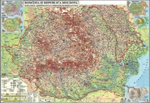 Harta Fizica A Romaniei Otopeni Eurodidactica Srl Id 796596