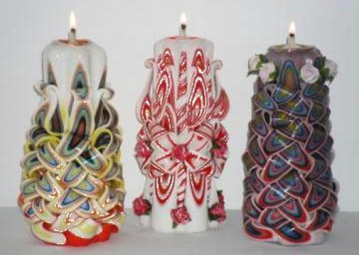 Lumanari sculptate de la Aliweb Candles Srl