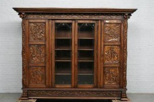 Mobila biblioteca carti de la Pieptenaru Antico