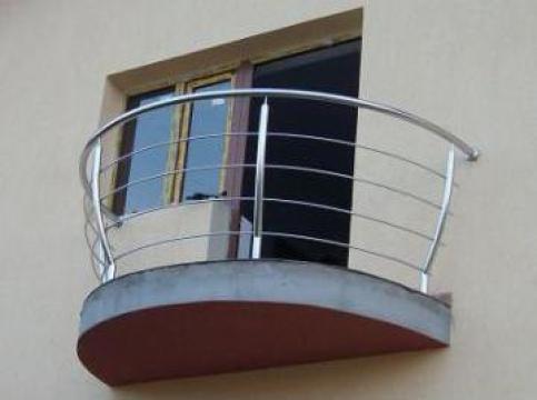 Balustrada inox balcon rotund