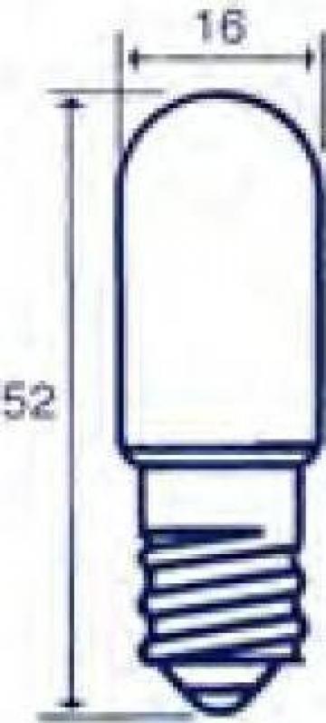 Bec indicator Edison E14, 24V, 15W de la Emco Star Srl