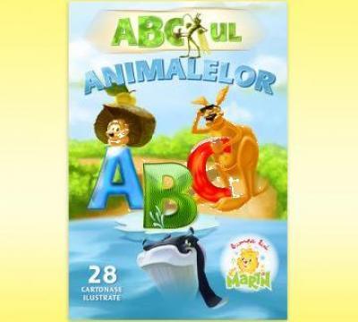 Joc educativ set cartonase ABC-ul Animalelor de la Lumea Lui Martin