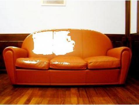 Set scaune si canapea din piele