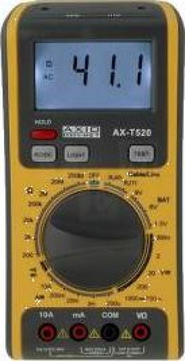 Multimetru digital cu tester de retea LAN de la Redresoare Srl