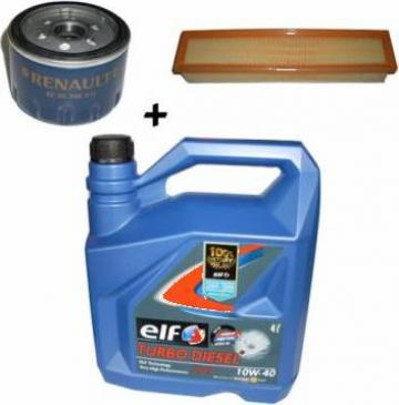 Kit pentru schimb ulei + filtre Dacia Logan Diesel Elf de la Alex & Bea Auto Group Srl