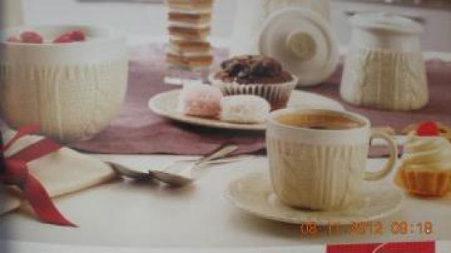 Set cafea si cappuccino, zaharnita, vas pentru prajiturele