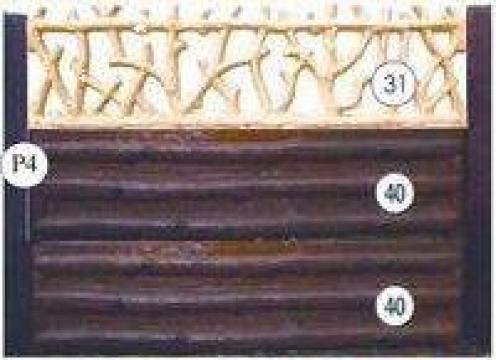 Gard beton cu lemn rustic de la Amonra Sun Srl