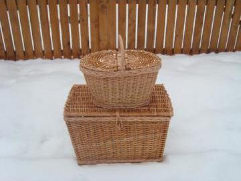 Cos de cadou, piata, picnic din rachita de la Af Ilonka Jozsef