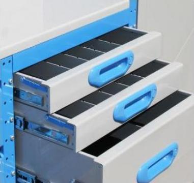 Dulap metalic cu sertare si separatoare pentru unelte