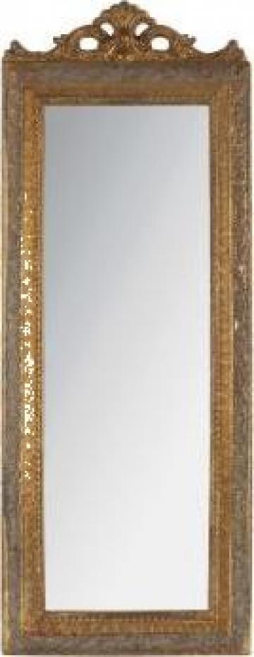Oglinda cu rama din lemn antichizat Noblesse de la Retro Boutique Srl