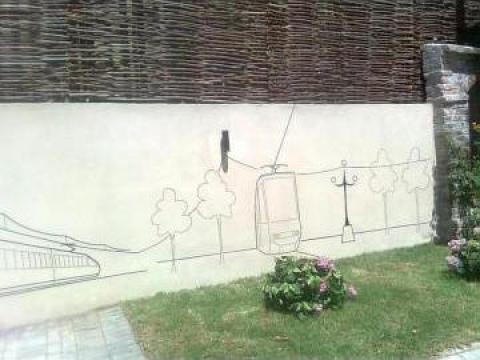 Pictura murala Traseul electricitatii-generator-consumator de la Lylly & Crysty Srl