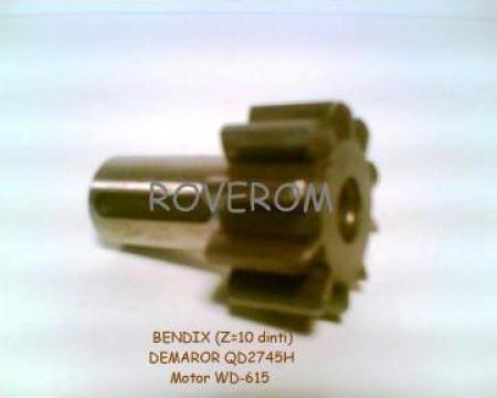 Bendix (Z=10) demaror motor WD-615; WD-618 de la Roverom Srl