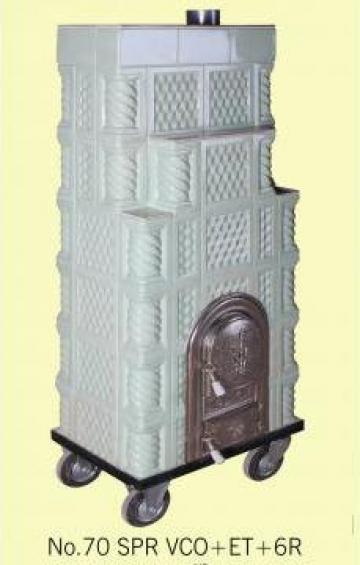 Soba pe roti cu etajera 6 randuri Fagure Verde Cobalt de la Fancris Srl