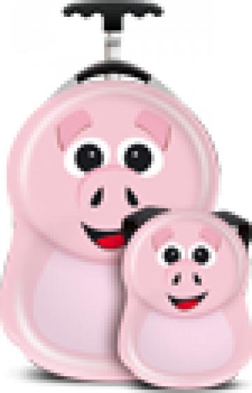 Ghiozdan si valiza copii Pookie the Pig, Cuties and Pals de la Stiki Concept Srl