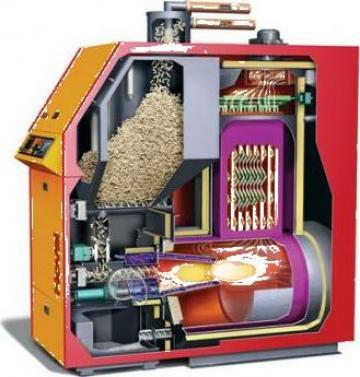 Centrale termice pe peleti si lemne 30 KW de la Next Technology