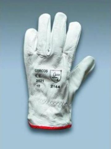 Manusi din piele granulata cu 5 degete de la Corcos S.r.l.