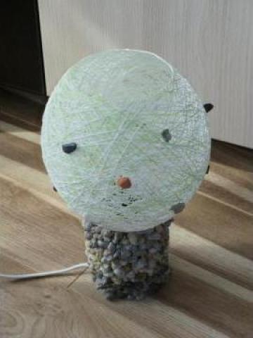 Veioza handmade vaza de la Toia Viorel Pfa.