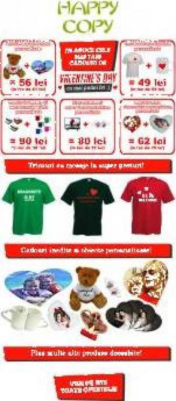 Cadouri personalizate Valentine's day de la Personalizare Obiecte