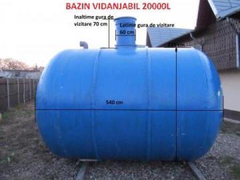 Rezervor fibra de sticla vidanjabil 20.000 L