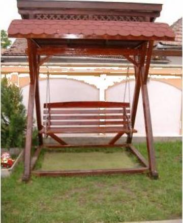 Balansoar lemn masiv brad lacuit, 3 locuri de la Iancu Nicolae Pfa.