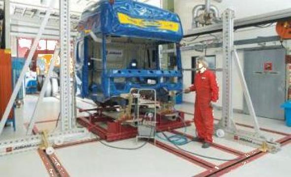 Sistem de redresat cabine si sasie de autocamion