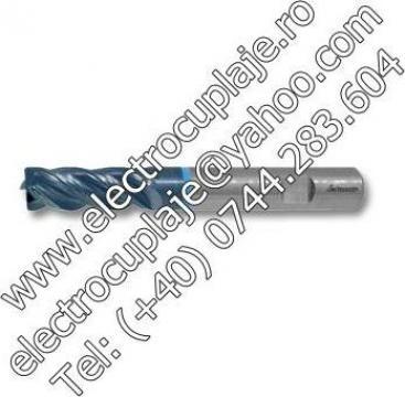 Freza cilindro-frontala din carbura HPC TiAlN 6 - 25 mm de la Electrofrane