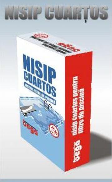 Nisip cuartos pentru filtre de piscina de la Bega Minerale Industriale Sa.
