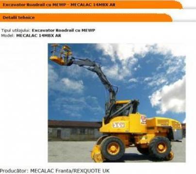 Excavator Roadrail cu MEWP