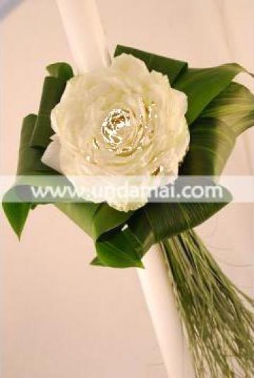 Lumanare nunta trandafir de la Unda Mai Srl