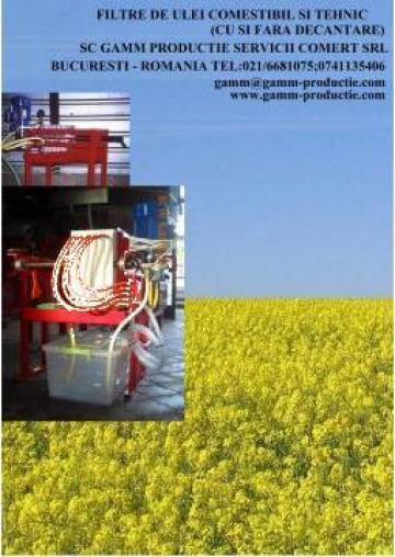 Dispozitiv filtrare ulei floarea soarelui